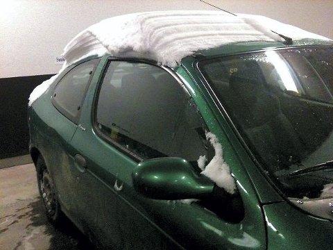Skal du på kjøretur må snøen vekk.