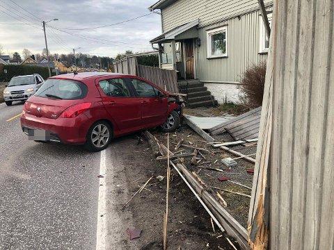 Ingen ble skadet i ulykken.