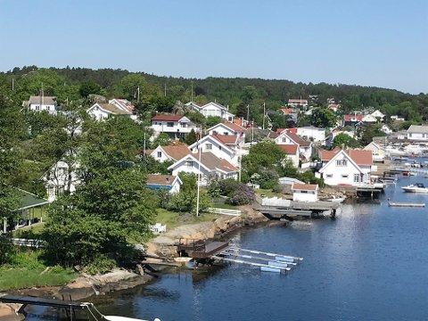 TETTERE: I Færder er andelen tilgjengelig strandsone like liten som i indre Oslofjord.