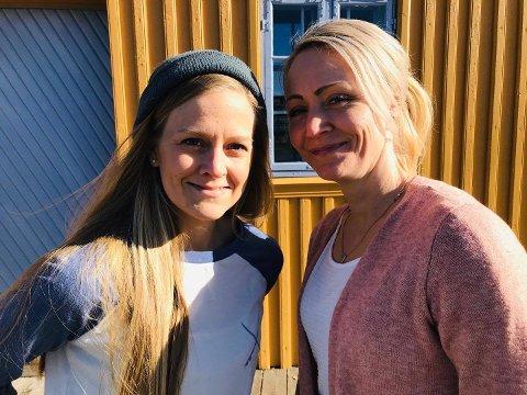 BESTEMØDRE: Cecilia Hallberg og Hege Thon omtaler seg selv som bestemødrene på et ellers ungt Teie-lag.