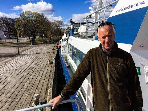 SHIP O'HOI: Øyvind Sæter er skipper og daglig leder i Bolærnebåtene. Nå gleder han seg til en ny sesong med nye tilbud.