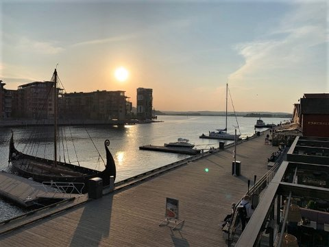 FINVÆR: I Tønsberg og omegn kan det ventes kun en stor rund sol de nærmeste dagene.