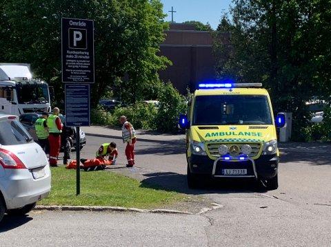 Trafikkulykke ved Teiehøyden.