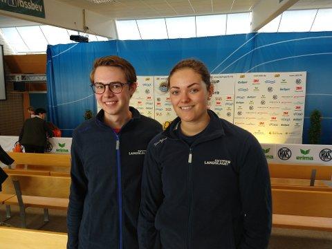 MIX-LAG:  Jeanette Hegg Duestad og Vegard Sveen Nordhaugen kom på en sterk femteplass i mix-skytingen i World Cup.