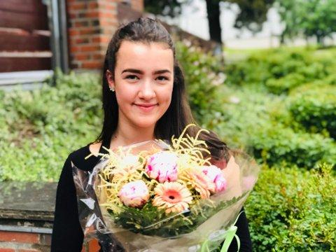 DRØM: Rebekka Svanqvist Flaarønning (18) fra Teie fikk Drømmestipend på 15.000 kroner.