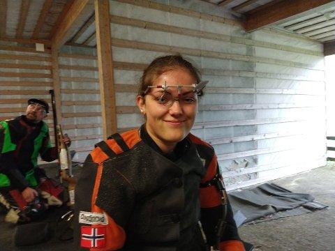 NESTEN PALLPASS: Jeanette Hegg Duestad viste skyteform i Europalekene. Foto: Tor Nystuen