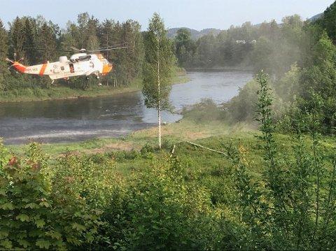 FULL UTRYKNING: En mann ble fraktet til Ullevål sykehus etter en ulykke tirsdag kveld. Foto: Privat