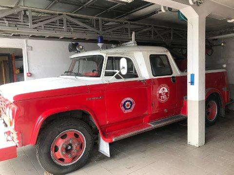 I GARASJE: Brannbilen har året rundt stått oppvarmet i garasje, i følge annonsen.