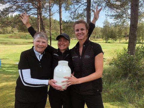 OPPRYKK: Solveig Moen (f.v.), Madelene Stavnar og Tonje Daffinrud fikk en verst tenkelig start på lag-NM, men reiste seg mesterlig og innfridde favorittstempelet.