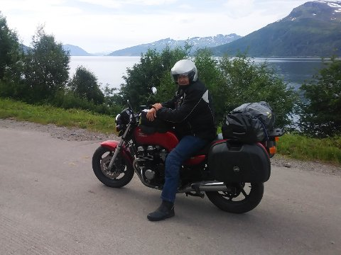 – PLUTSELIG FORSVANT FORHJULET: Sverre mener at veimerking kan være svært farlig.