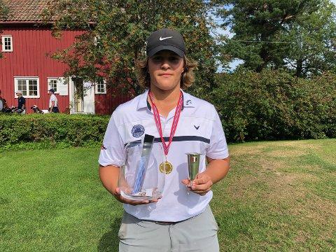 GULLGUTT: Alexander Settemsdal tok årets første seier da det gjaldt som mest.
