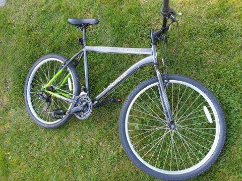 BLE STJÅLET: Det var denne sykkelen av merket Triacle som søndag ble stjålet fra jernbanestasjonen i Tønsberg. I bruktmarkedet ligger prisen på cirka 1000 kroner for nettopp denne sykkelen, viser et søk på finn.no.