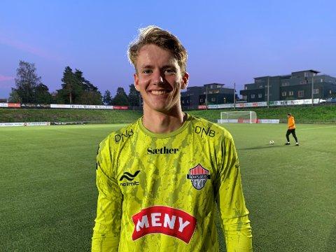 DEBUTANT: 16 år gamle Mads Semb Christophersen kunne smile etter en godt gjennomført FK Tønsberg-debut.