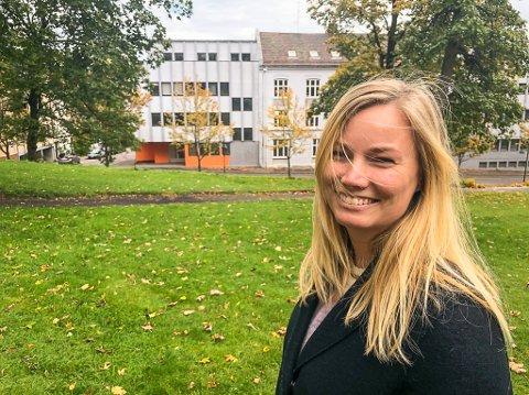 PLANER: Arkitekt Siri M. Ludvigsen ved Ola Roald arkitekter, har vært i møte med kommunen om planene for det tidligere Blå Kors-kvartalet