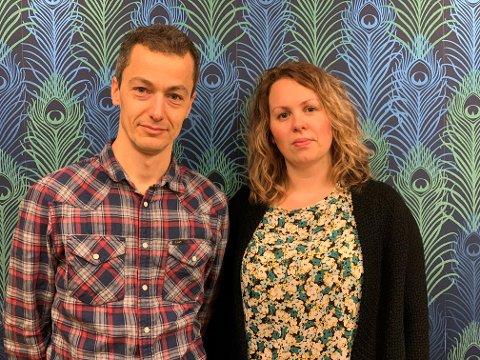 DEBATT: Tønsberg og Færder MDG ønsker en debatt rundt bruken av fyrverkeri på nyttårsaften.  Fra venstre: Lars Ove Gidske i Færder MDG og Julie Estdahl Stuestøl i Tønsberg MDG.