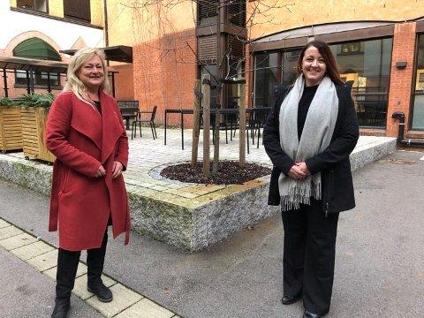 TIL GODE FORMÅL: Anne Rygh Pedersen (Ap) og Jill Eirin Undem (Sp) presenterer posisjonens budsjettforslag.