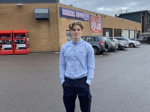 HJEMKJØRING: Even Horgen (19) skal tilby gratis hjemlevering av dagligvarer.