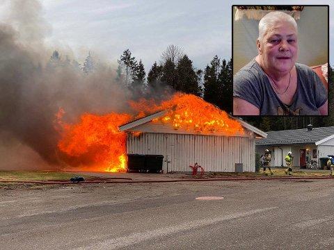 NÆRMESTE NABO: Monica Oskarsen var nærmeste nabo til brannen som oppstod på Barkåker mandag morgen.