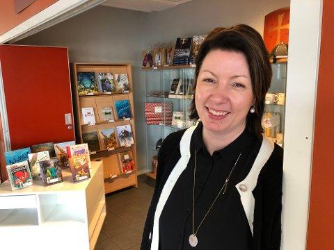 TRENGER ORD: Grete-Andrea Varskog ved Slottsfjellmuseet trenger ord-hjelp fra deg.