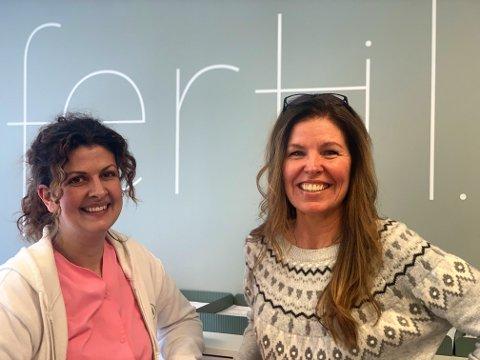 TAFRE AS: Doktor Christel T. Freberg og Jannicke Mølbach jobber hos Tafre As. – Mye av vår virksomhet handler om de som ønsker, planlegger eller har fått barn, sier de.  Fra venstre: Christel T. Freberg og Jannicke Mølbach.