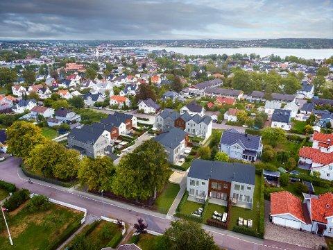 TUNGSOLGT: Utviklerne måtte sette ned prisen på noen av boligene fordi det gikk tregt å få solgt. Til slutt ble hele prosjektet trukket. Nå er noe nytt på gang.