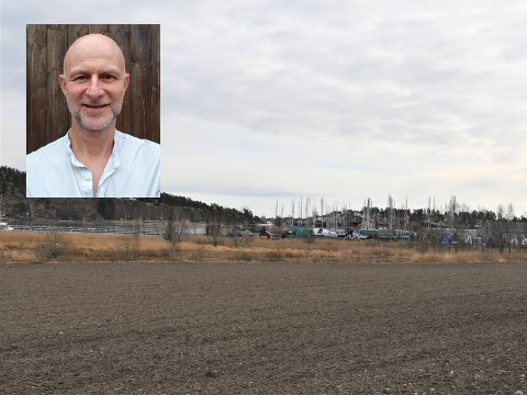 SPENNENDE: Førsteamanuensis Erling Dokk Holm synes Hjemseng Brygge er et godt og nødvendig prosjekt for Færder kommune.