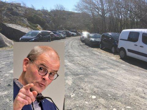 GLAD FOR AT FOLK GÅR TUR: – Folk kan ikke dra av gårde i ferien, så det at man kommer seg ut og går tur er positivt i seg selv, sier Færder-ordfører Jon Sanness Andersen.