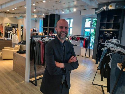 TØFFE TIDER: Vegard Eidmann Kjøl er en av eierne av klesbutikken Bogart. Nå gjør de forandringer på merkevaren. Dette bildet er fra fra 2017.