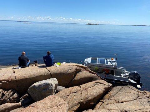 EN GOD DAG PÅ JOBBEN: Geir Ove Nybo og medarbeiderne gjorde onsdag en innsats for miljøet.