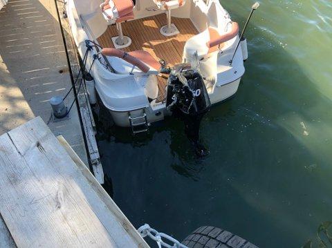 Det ble noe skader på den ene båten.