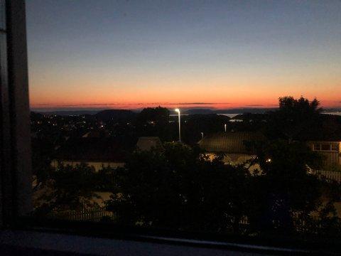 VAKKERT: Dette bildet ble tatt klokken 01.30 i Horten natt til tirsdag.