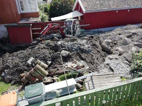 DROPPET SØKNAD: Jens Morten Thorsen satte i gang arbeidene på tomta i Nordbyen uten å ha søkt eller gjort geotekniske undersøkelser. Det må han betale for nå.