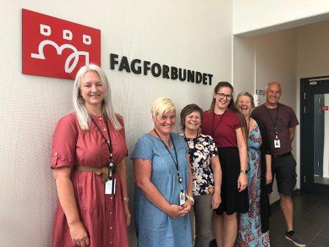 FLINKE FOLK: Yrkesseksjonsledere og undomstillitsvalgte i Fagforbundet Vestfold og Telemark.