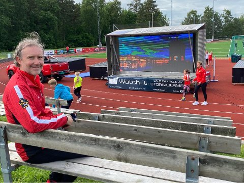 GLEDER SEG: Her satser Are Aasmundrud og Nøtterøy-friidretten på skikkelig Bislett-stemning torsdag.