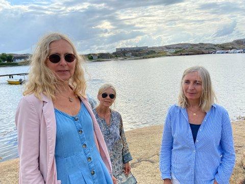 ENGASJERTE: Anne Marie Corcoran Simonsen, Liv Aagaard og Anne-Birte Høgestøl har engasjert seg i Mostranda-saken.  De mener politikerne ikke kan legge opp til at byggene på Mostranda skal stå som de er i dag.