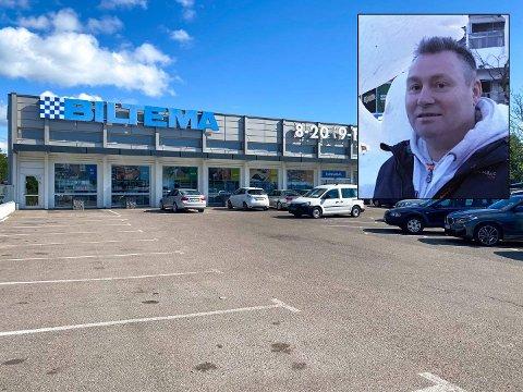 SÅ PISTOLEN: Roger oppdaget at en mann i 20-årene plasserte en pistol i bukselinningen da han var på Biltema. Ti minutter senere ble mannen tatt av politiet.