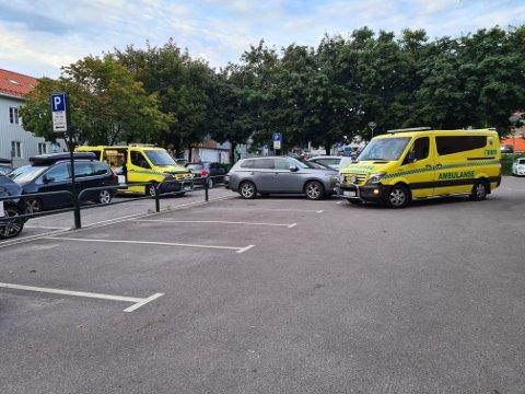 Ambulanse rykket ut lørdag kveld.