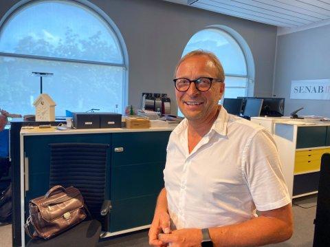 FLYTTER: Svein Rød og Senab Eikeland tar farvel med Tønsberg.