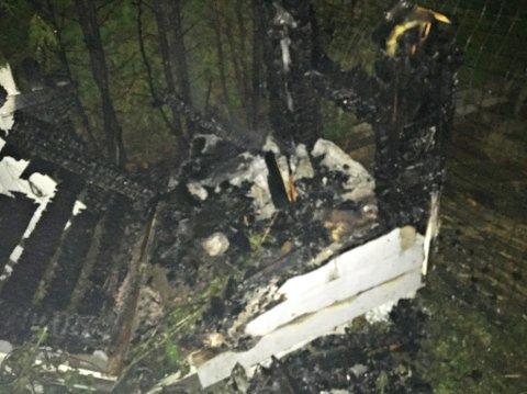 BRANN: Brannvesenet rykket ut til brann i hundehus.