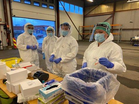 Mange har fått påvist koronaviruset så langt i 2021. Her fra luftveisklinikken på Stensarmen i Tønsberg.