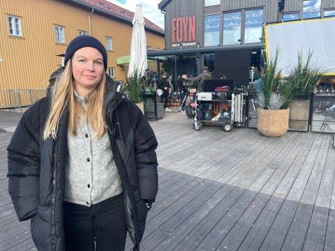 FØRSTE BESØK: Dette er første besøk til Tønsberg for produksjonsleder Maja Storbekken. Hun er fra Hamar, men jobber i Oslo. Storbekken har tidligere jobbet med store filmprosjekter som Bølgen, Tunnelen og Børning.