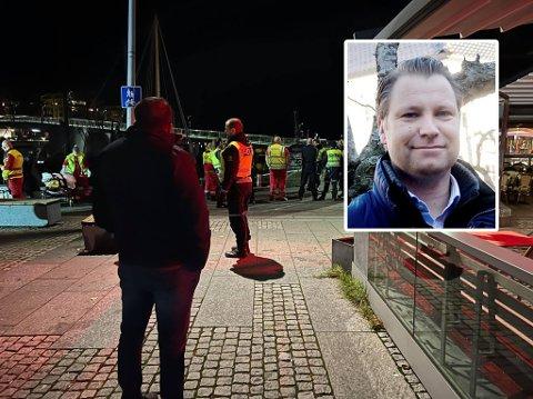 SAMTALER MED ANSATTE: Daglig leder Jon Terje Johnsen for Foyn bar & nattklubb jobber tett med politiet.