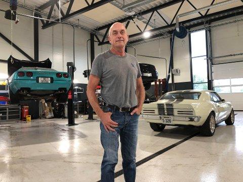 INVESTERT: Trond Edh og hans firma Phoenix US Car AS har bygd, og tatt i bruk, et splitter nytt verkstedbygg.