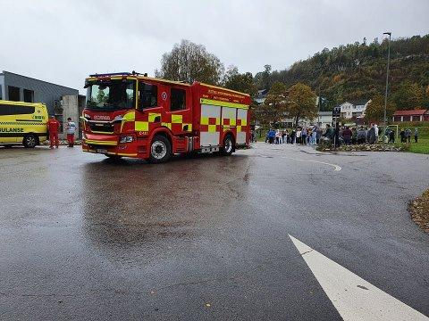 Nødetatene var raskt på plass etter at brannalarmen gikk på Orerønningen.