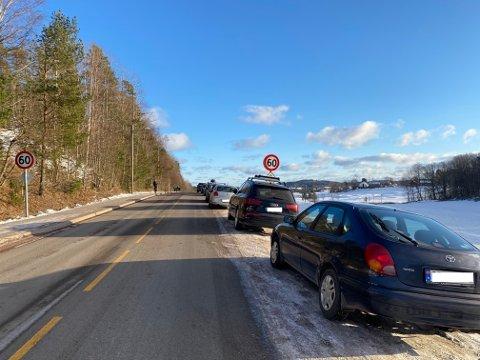 SKILLE: Det er mange som parkerer bilen sin langs Hellaveien på Borgheim i helgene og på sommeren, men står du på feil side av fartsskiltet kan du risikere bot og borttauing.