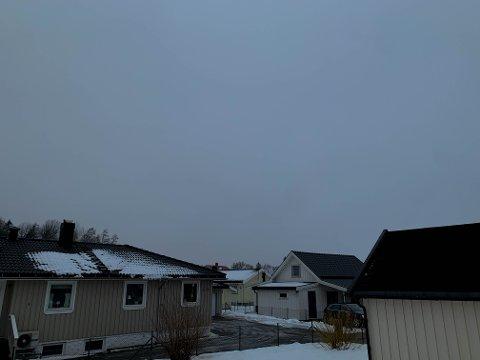 GRÅTT: Den siste uka i februar starter med skikkelig gråvær, og periode med tåke mandag 22. februar.