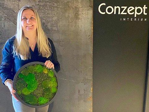 CONZEPT: Monica Olsen driver interiørbutikken Conzept på Sem, som gjorde det bra i 2020. – Tiden vi er i skaper mer behov for et fint hjem. Mange ønsker å lage et feriested hjemme, sier Monica.