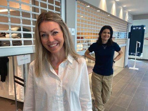 GLEDER SEG: Vibecke Wilhelmsen og Jasmine Lauritzen kan nesten ikke vente til de kan ta imot kunder igjen.