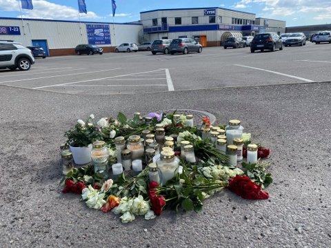 ÅSTED: Bård Lanes ble funnet på gangstien ved Rema 1000 på Kilen.