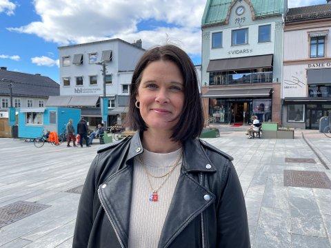 JUBILEUMSLIV: Leder i Tønsberglivet, Cecilie Sørumshagen, påpeker at nivået på jubileumsmarkeringen henger sammen med både pandemi og økonomi. Selv skulle hun gjerne sett enda mye mer jubileumsaktivitet i byens gater.